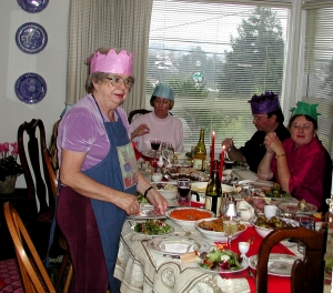 There's Grandma and her famous Christmas feast