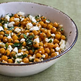 http://www.kalynskitchen.com/2011/05/recipe-for-garlicky-roasted-chickpeas.html